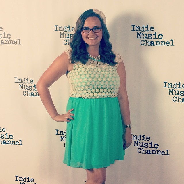 Danielle Heath on the Red Carpet Indie Music Channel Awards 2014
