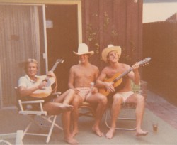 "Me, Mike Adams and ""Big Gar"" Gary Price.  Balboa Island back in the day."