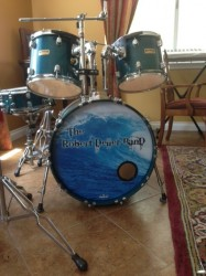 New Bass Drum Head May 2013