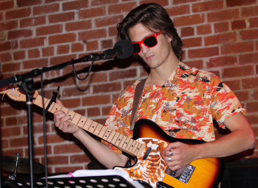 Justin Smith - Electric Guitar playing at The Lighthouse Cafe, Red Sunglasses Album Release Party 2011