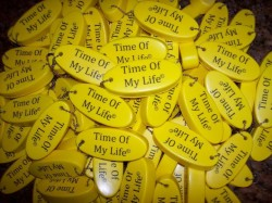 Time Of My Life Boat Key Chain give aways at album release party November 2009